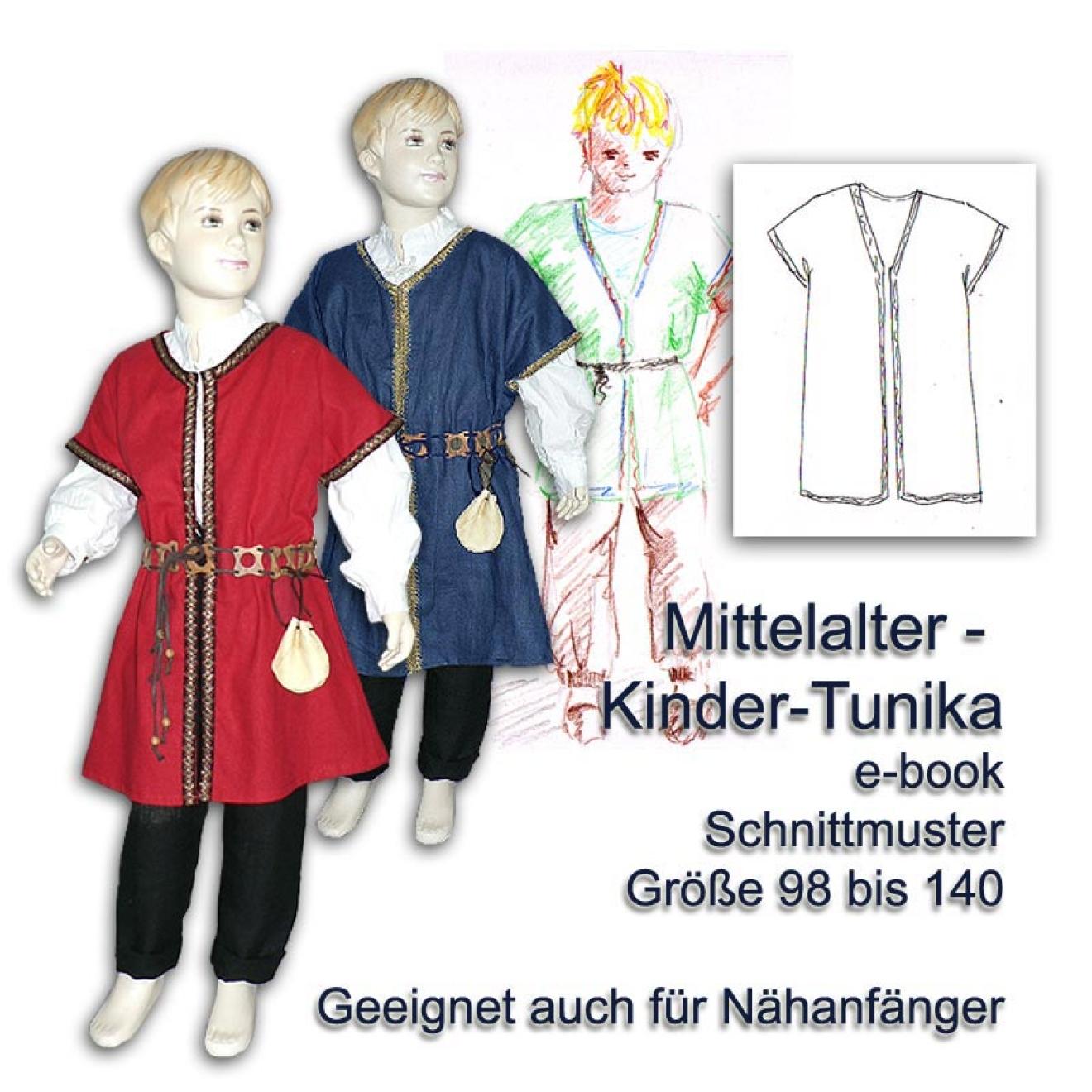 Schnittmuster für Mittelalter-Tunika für Kinder