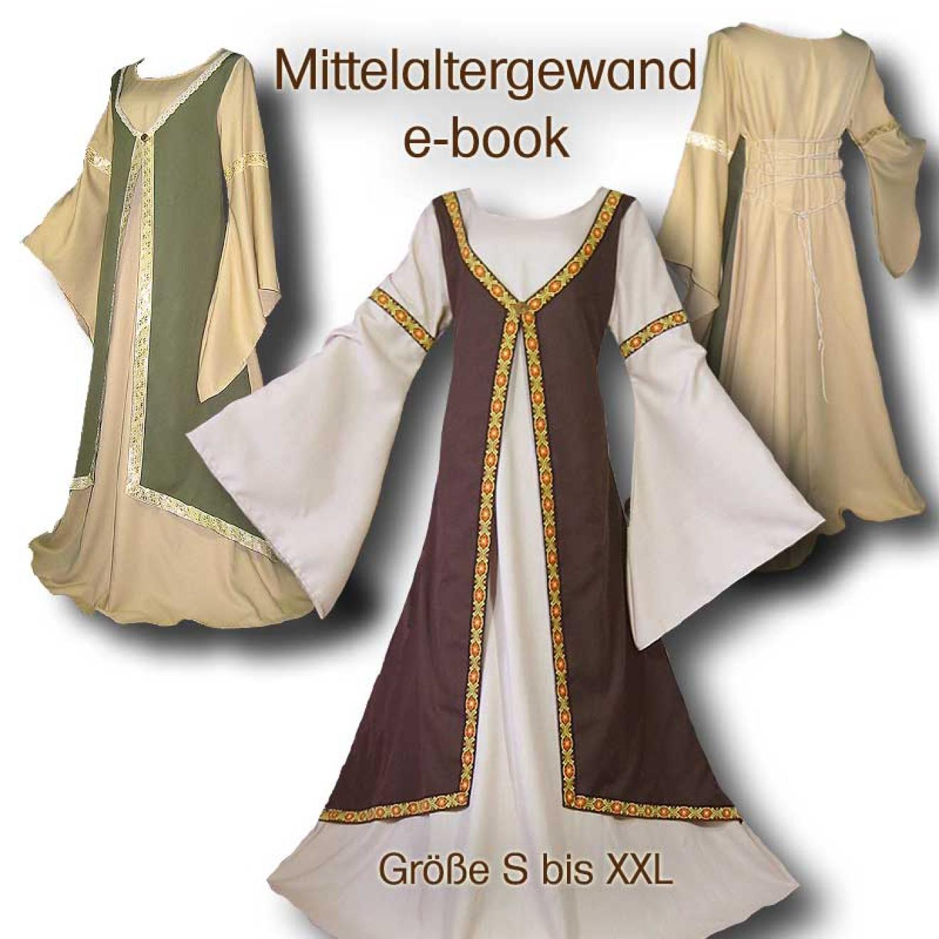 Schnittmuster Mittelalter-Gewandung DIY Kleid S-XXL
