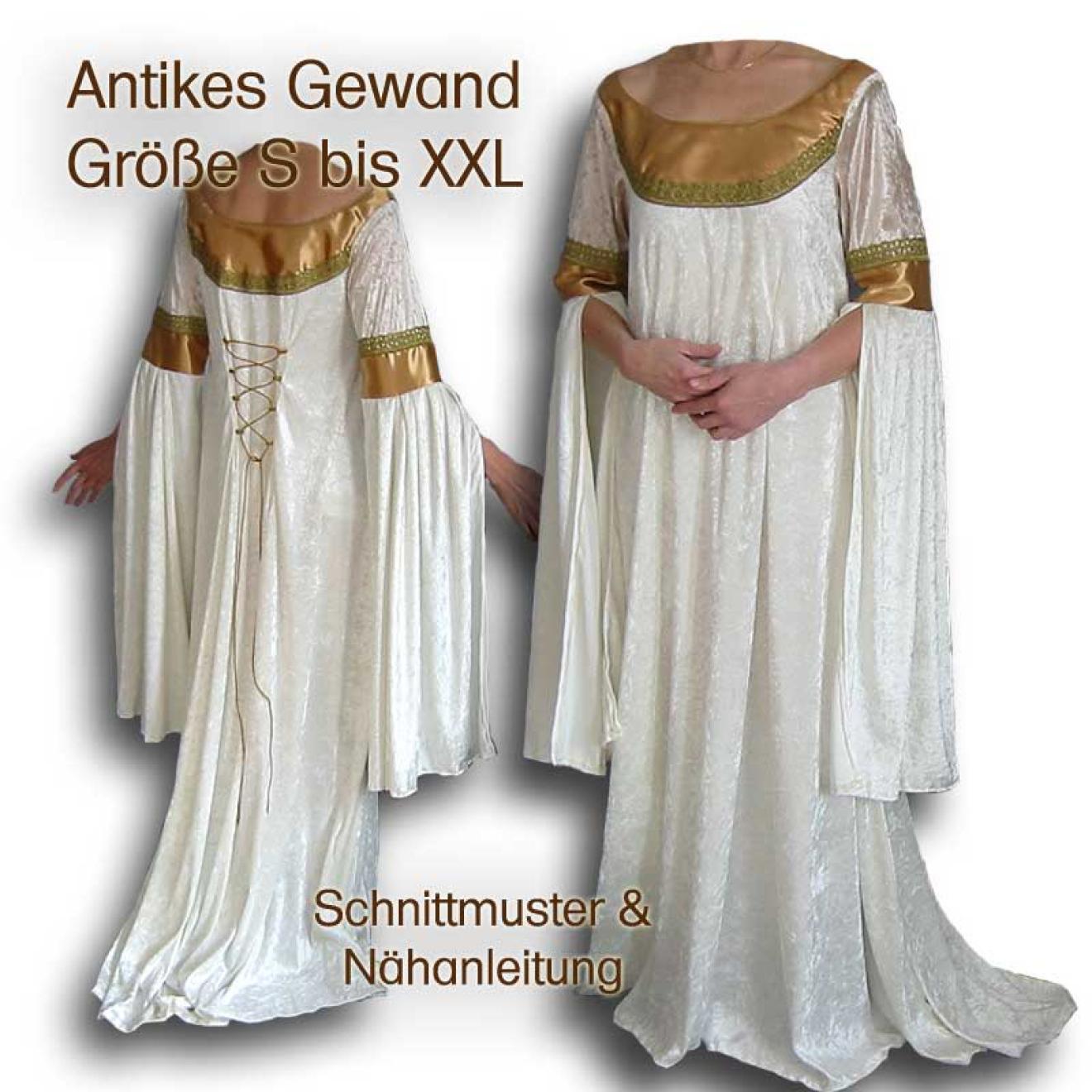 Schnittmuster Griechin Römerin DIY Kleid S-XXL