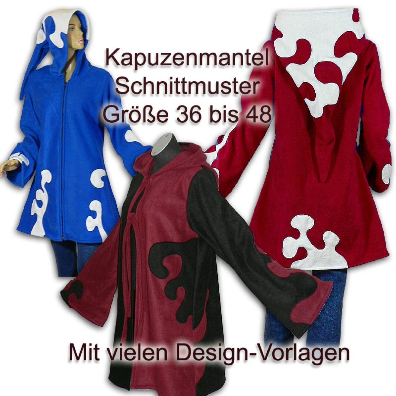 Schnittmuster e-book Elfenmantel mit Applikationen