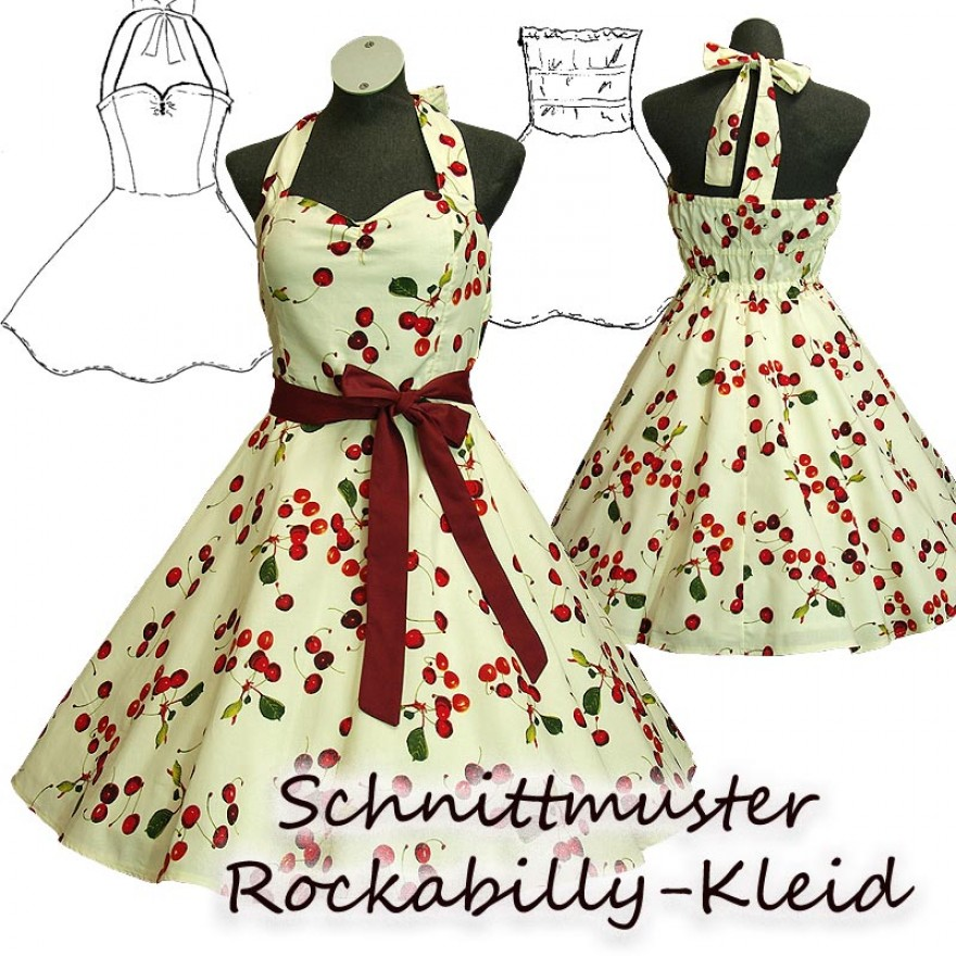 schnittmuster e book petticoat kleid mit tellerrock. Black Bedroom Furniture Sets. Home Design Ideas
