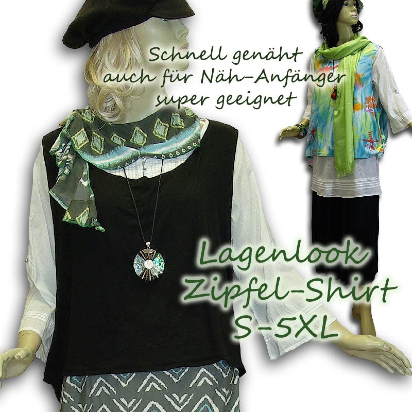 Schnittmuster e-book Lagenlook Zipfel-Shirt Weste