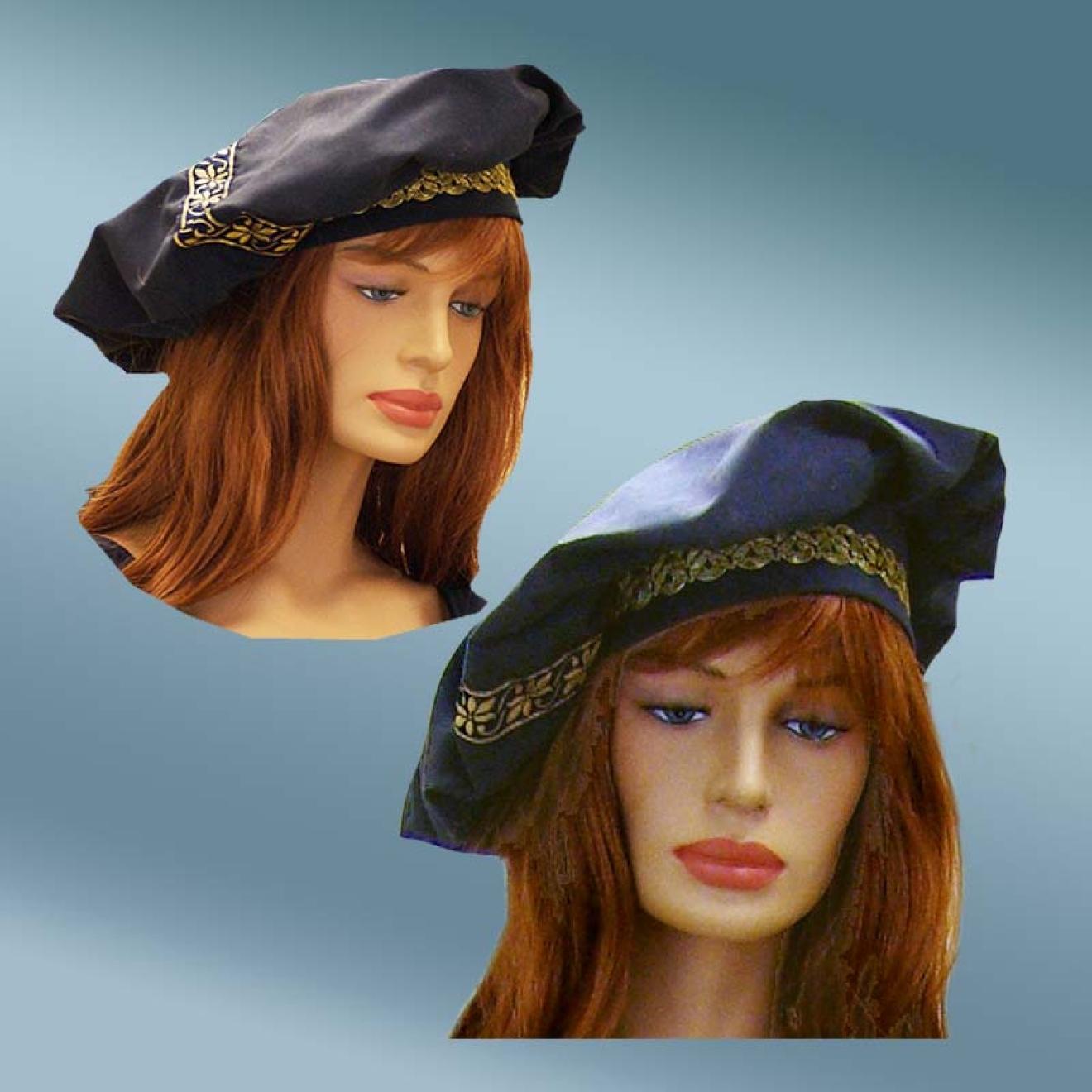 Mittelalter Kopfbedeckung Barrett aus Baumwolle