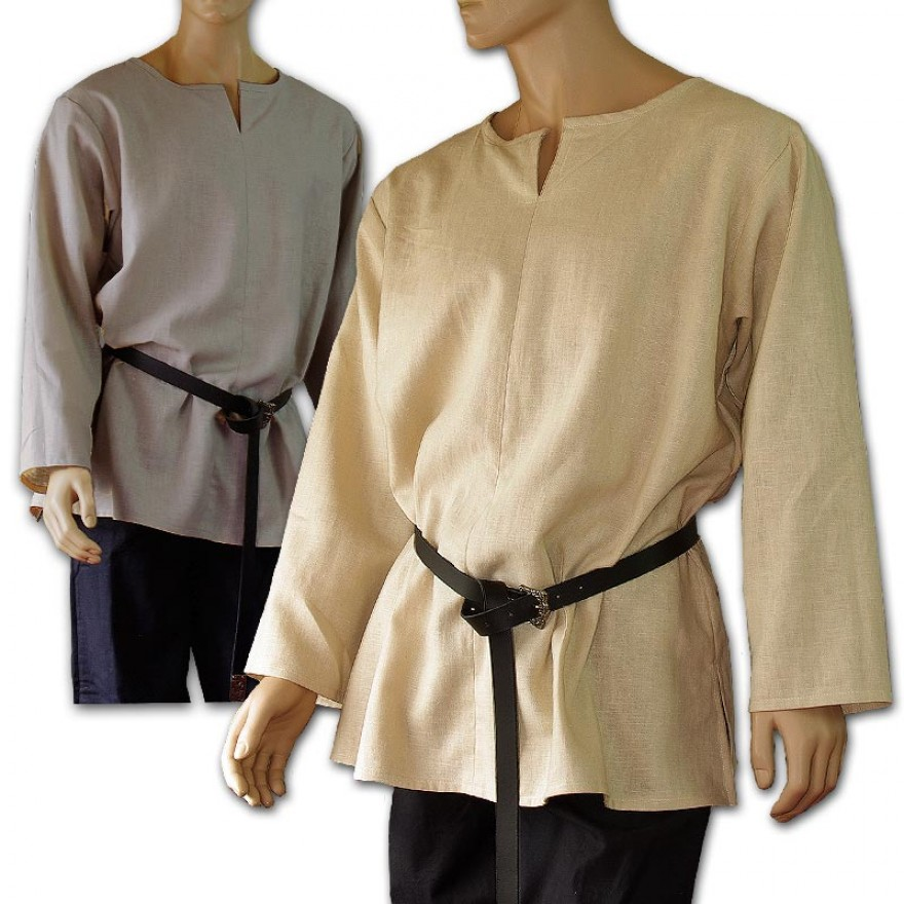 Mittelalter Herrenhemd Maßanfertigung aus Leinen