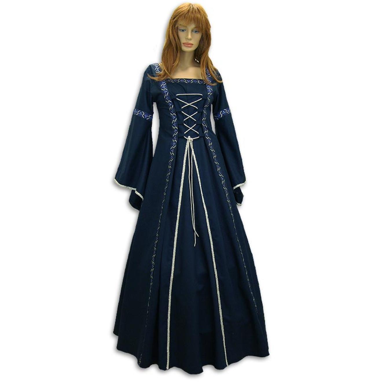 Mittelalter Hochzeitskleid Blau