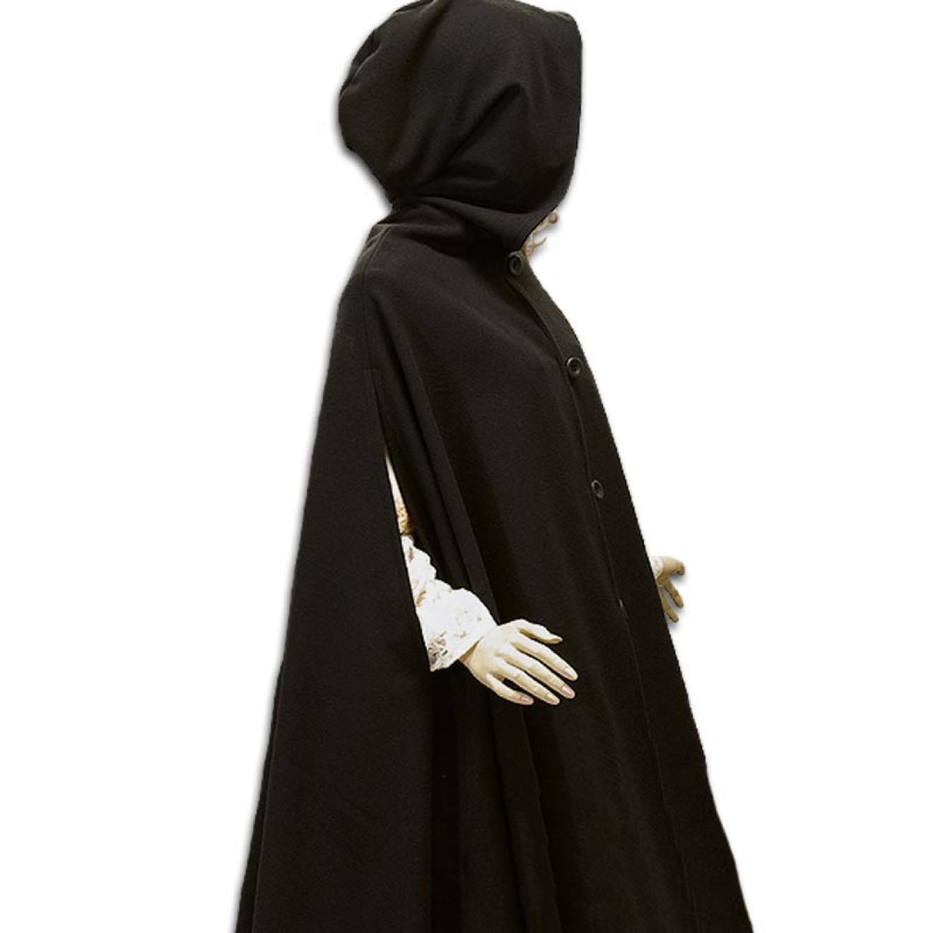 Mittelalterumhang aus Wolle mit Armlöchern