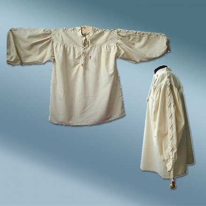 Mittelalterhemd Baumwolle Leinen Gr. S bis XXXL