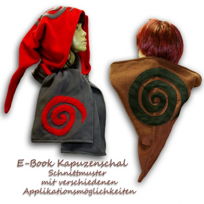 Schnittmuster für Kapuzenschal e-book