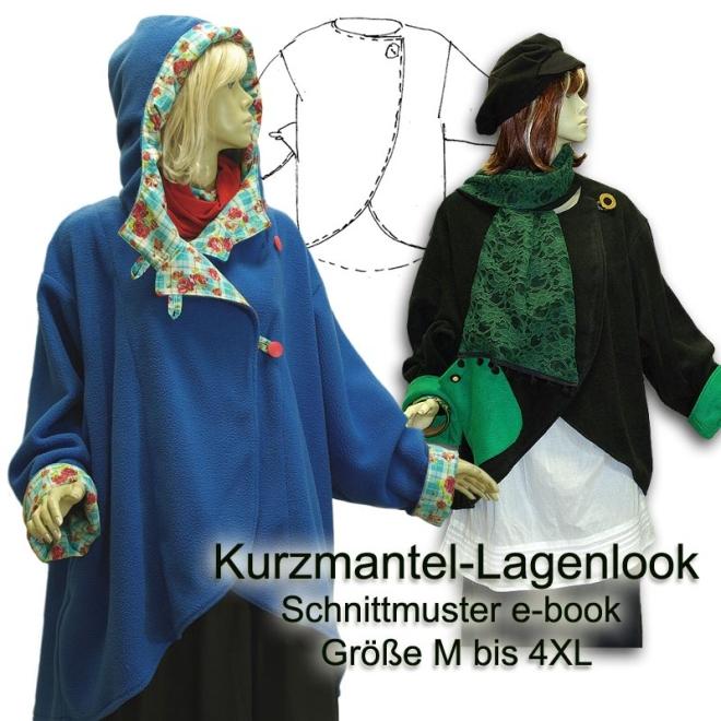 Schnittmuster e-book Lagenlook Jacke M bis XXXXL