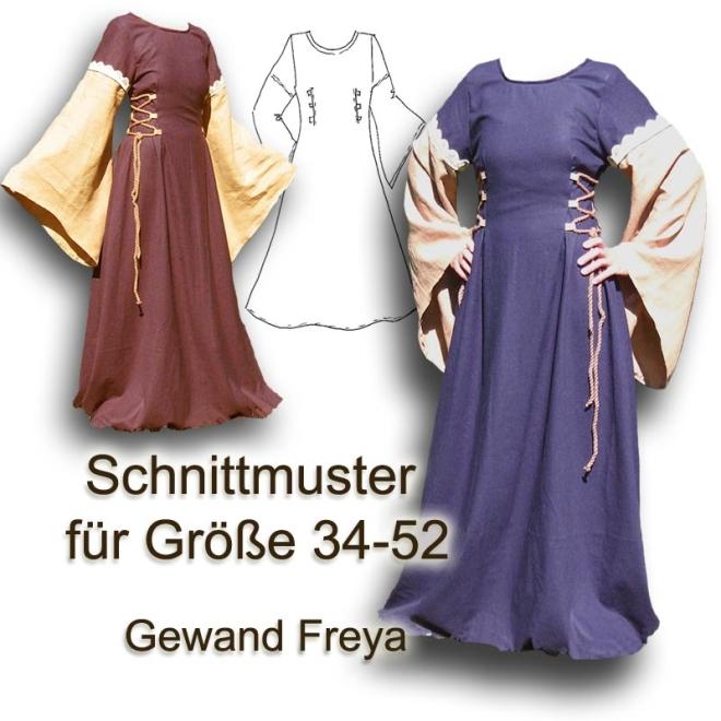 Schnittmuster Mittelalter-Gewandung DIY Elbengewand