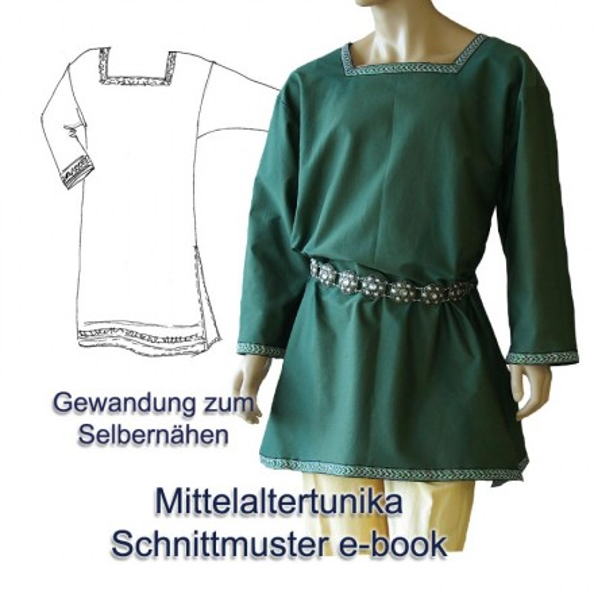 Schnittmuster für Mittelalter-Tunika Größe S bis XXXL