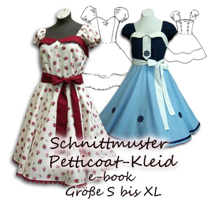 Schnittmuster e-book Petticoat-Kleid mit Tellerrock