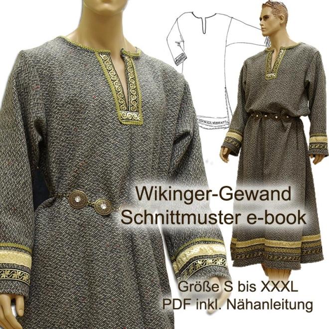 Schnittmuster e-book für lange Wikinger-Tunika