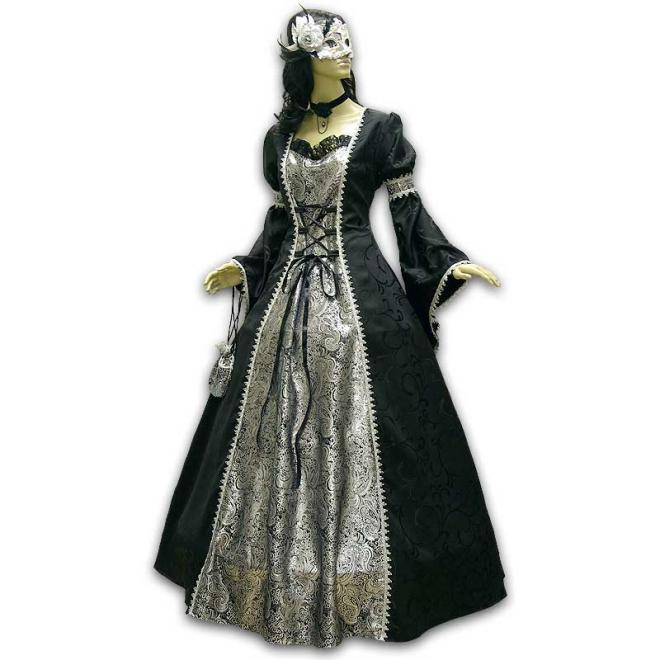 Schwarzes kleid gothic