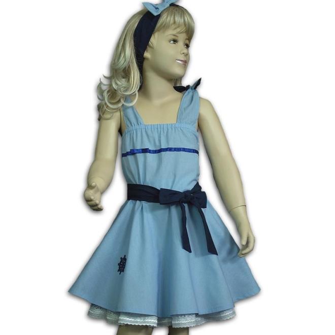 Rockabilly-Kleid für kleine Mädchen Größe 110/116