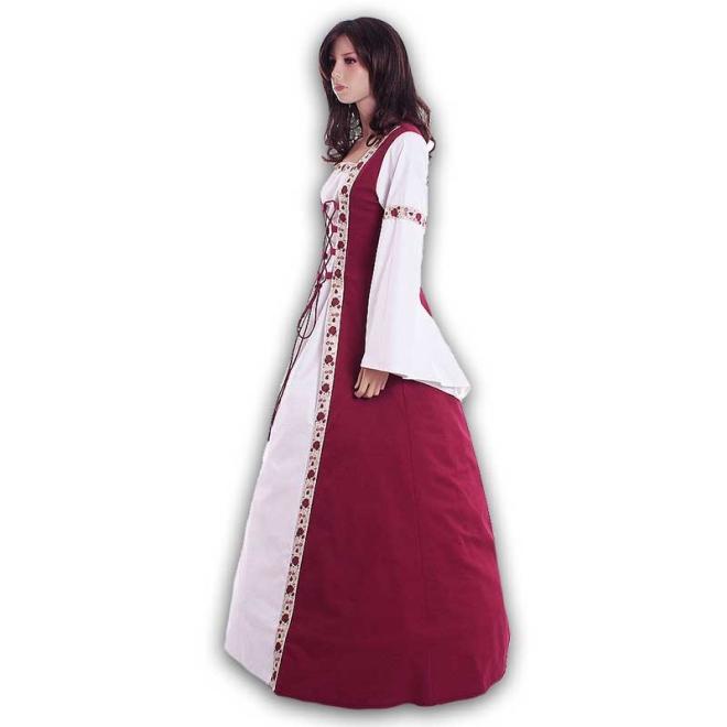 Mittelalterkleid Brautkleid maßangefertigt auch in Übergröße nach Maß