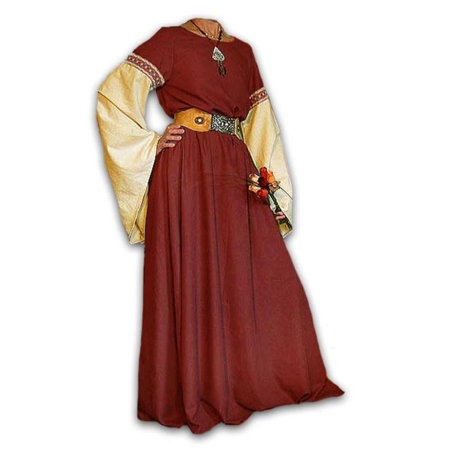 Mittelalterkleid aus reinem Leinen - Mittelalter Kleidung nach Maß ...