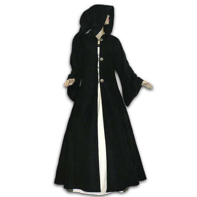 Mittelalter mantel mit kapuze