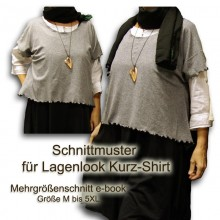 Schnittmuster Lagenlook Basic-shirt M-5XL e-book