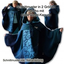Schnittmuster Poncho Cape extra Gugel e-book