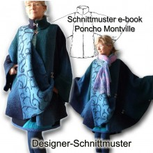 e-book Schnittmuster Poncho Cape kuscheliger Umhang
