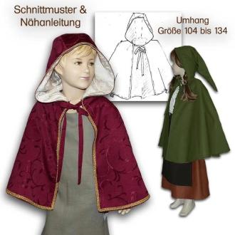 Mittelalter umhang mit kapuze nahen