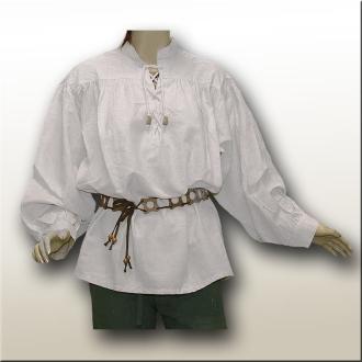 Mittelalterhemd Piratenhemd Baumwolle weiß